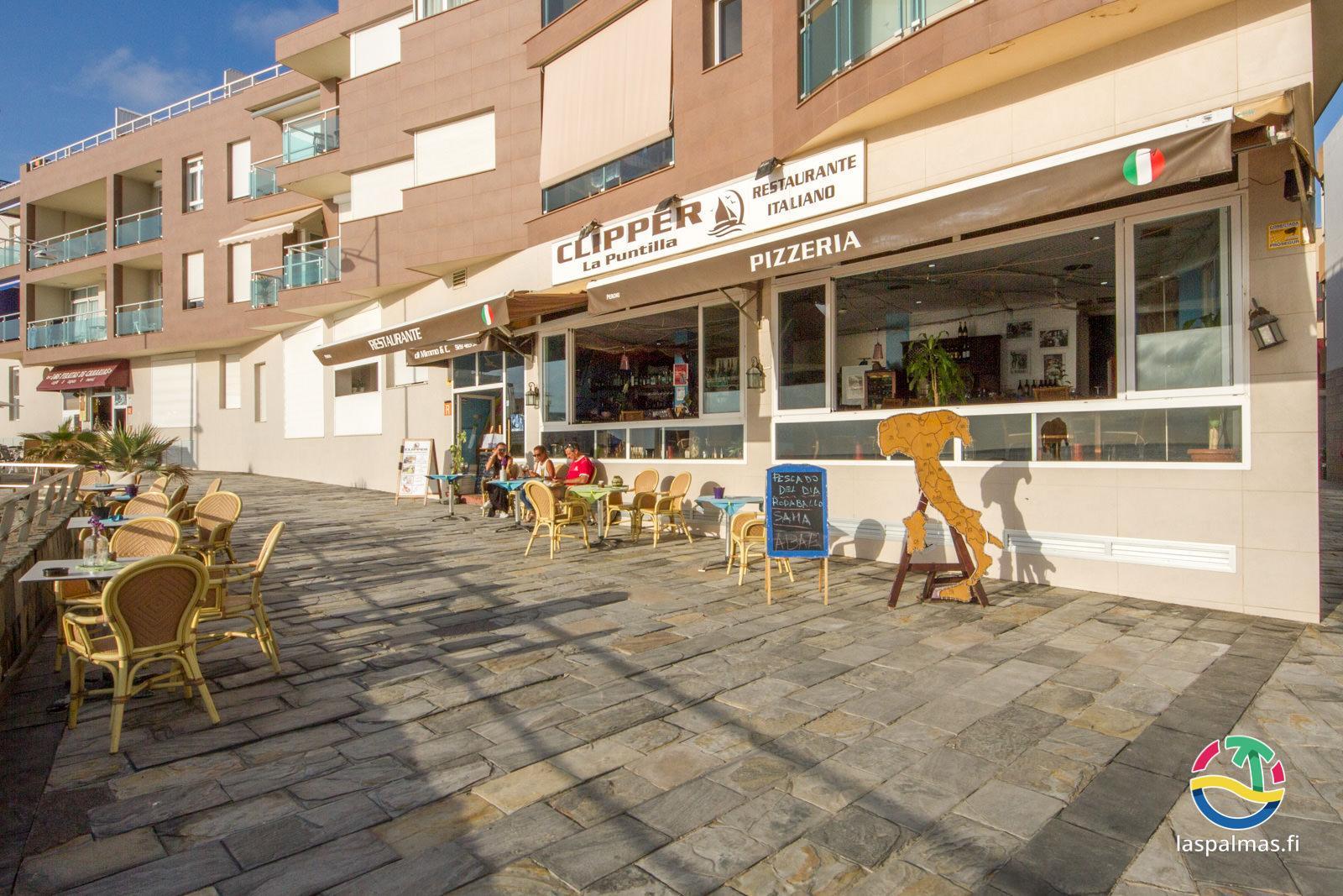Ihana italialainen ravintola Clipper, Las Palmas