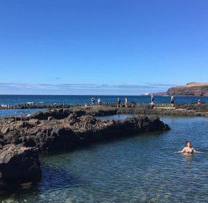 Luonnon merivesialtaat Agaetessa, Gran Canarialla