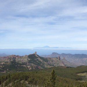 Maisema Pico de Las Nievesiltä, Gran Canaria