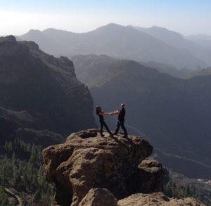 Vuoristomaisemia Roque Nublolla, Gran Canarialla