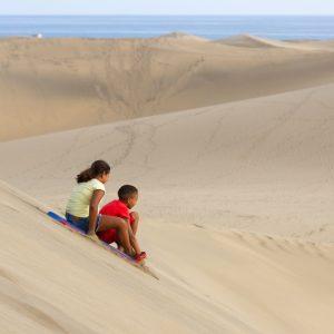 Pulkkamäki Gran Canarialla. Playa del Ingles dyynit.